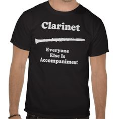 Clarinet Instrument Gift Tshirts