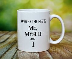 Me mMy Self Mug by ShopHappyCrafts on Etsy