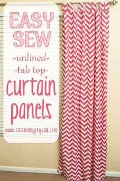 STITCHED by Crystal: Tutorial: Easy Sew Curtains