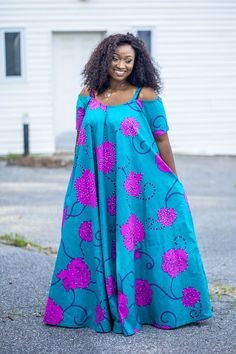 Plus size DIY ankara style. Full flare maxi dress – African Fashion Dresses - African Styles for Ladies Latest African Fashion Dresses, African Dresses For Women, African Print Fashion, African Attire, African Wear, Ankara Fashion, Africa Fashion, African Prints, African Style