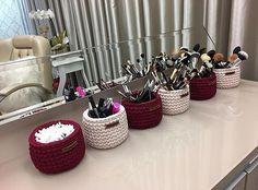 For Beginners Basket tramaria® ( Crochet Sole, Crochet Motifs, Crochet Stitches, Knit Crochet, Crochet Organizer, Crochet Storage, Crochet Basket Pattern, Crochet Patterns Amigurumi, Crochet Baskets