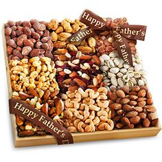Golden State Fruit Father's Day 3 Lb Nuts Extravaganza Gift in Wooden ...
