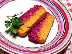 pastel de merluza zanahoria y remolacha