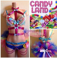 Theres only one way to travel down the Candyland road and thats in style. With this Candyland Surprise Rave Bra and Bottom. This delicious treat has