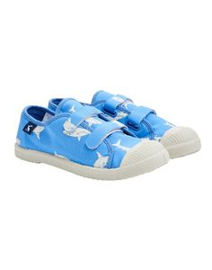 Blue shark summer Velcro kids trainers / sneakers