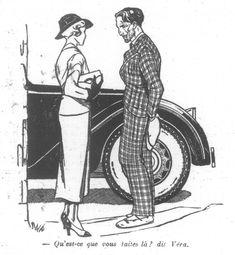 Dessin de Manon Lessel, La Semaine de Suzette, 31 mars 1938, n° 18, p. 284