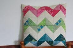 I'm pretty addicted to making my Chevron pillow and couldn't resist making one using the beautiful Terra Australis fabrics.