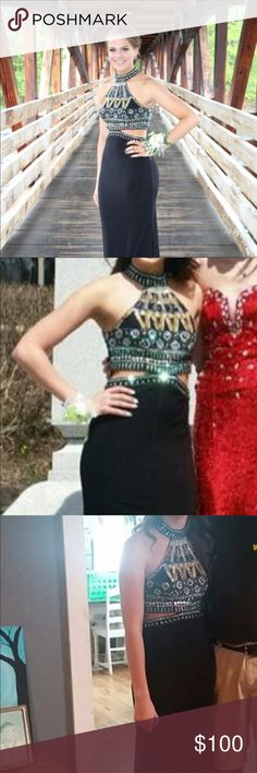 Prom dress Black high neck prom dress. Size 0 but can fit bigger. Worn twice. Excellent condition More prom dresses listed on my page! Sherri Hill Dresses Prom