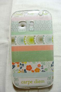 Funda de móvil con washi tape