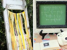 """set up a """"photo booth"""" and use the pics with guest and mommy-to-be along with a sweet note as the guest book."""