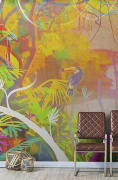 Wallpaper TROPICAL POP by Wallpepper