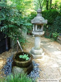 Japanese Wood Barrel Fountain | Love This Japanese Lantern And Water  Fountain   Such A Great