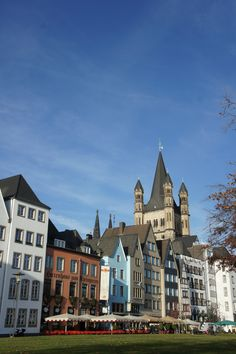 Cologne Old Town looks great in the sunshine.