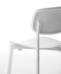 Colander, white minimalistic chair   chair . Stuhl . chaise   Design: Patrick Norguet   Kristalia  
