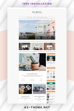 Welcome to Vinyl – an Elegant, Personal Blogging and Magazine WordPress Theme. Vinyl is a stylish and beautiful, responsive WordPress blog theme perfect for any type of blog such as travel, photography, personal, news, fashion, food, or tech blog. Corporate Blog, Custom Website Design, Blog Layout, Fashion Themes, Best Web Design, Wordpress Template, Website Design Inspiration, Best Wordpress Themes, Lifestyle Blog