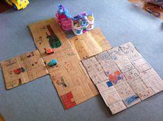 Growing Play: Cardboard Box Road Maps