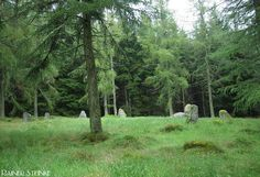 Garrol Wood Stone Circle: Banchory, Scotland. Also called Nine Stanes. Photography by Rainer Steinke
