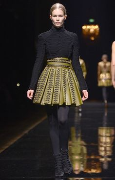 This high-waisted, embellished skirt from the designer's army-themed lineup still haunts my dreams. An H&M version would probably be the first thing to fly off the shelves when Rousteing's collaboration drops.