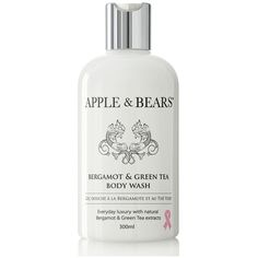 Apple Bears Luxury Body Wash Collection Bergamot Green Tea 300ml ($24) ❤ liked on Polyvore featuring beauty products, bath & body products and body cleansers