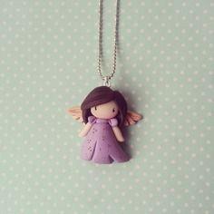 Collier inspiration gorjuss - petite ange