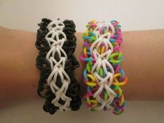 Rainbow Loom FLOOFY Bracelet. Designed and loomed by Claire at Claire's Wears. Click photo for YouTube tutorial. 07/03/14
