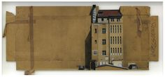 Paintings of Cityscapes on Found Cardboard by Evol   Junkculture