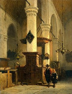"Bosboom Johannes - Interior Of Church In 1891 (from <a href=""http://www.oldpainters.org/picture.php?/47003/category/15854""></a>)"
