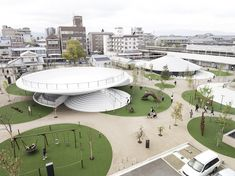 Ancient Japanese tombs inspire nendo's first public space design