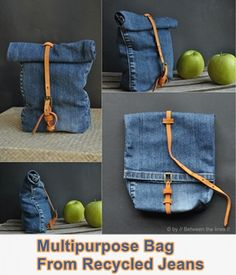 Multipurpose Lunch Bag From Recycled Jeans Self Sufficient - Homesteading  - The Homestead Survival .Com