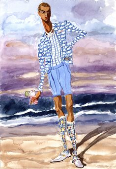 Menswear S/S 2013 by Jiiakuaan Illustration.Files: Beach Boy