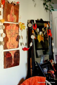 How To Make a Fall Leaf Triptych - Beyond The Picket Fence