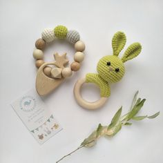 Bunny Rabbit rattle Crochet Baby gift Natural nursery toys Newborn toy baby shower gift Organic eco animal decor rattle Baby teething toy See other ideas and pictures from the category menu…. Newborn Toys, Baby Toys, Newborn Nursery, Crochet Toys, Crochet Baby, Baby Shower Gifts, Baby Gifts, Wooden Baby Rattle, Natural Nursery