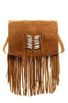 Maria Trim Fringe Messenger Bag