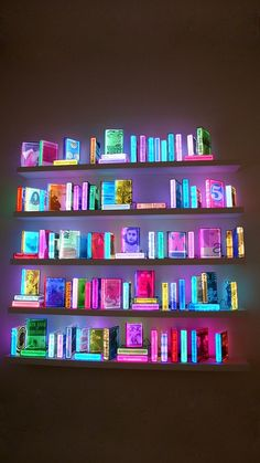 Creative Neon, Lighting, Books, Fluorescent, and Library image ideas & inspiration on Designspiration Neon Licht, Neon Aesthetic, Neon Lighting, Lighting Ideas, Facade Lighting, Installation Art, Interior Design, Interior Styling, Decoration