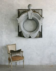 Antique 19th Century French Architectural Zinc Window { Frame }