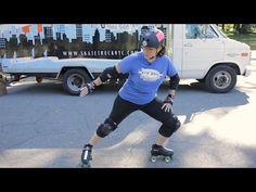 How to Do a Power Slide | Roller-Skate - YouTube