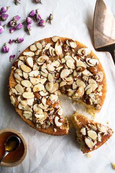 Honey Soaked Almond Cake - The Original Dish Soaked Almonds, Honey Almonds, Cake Recipes, Dessert Recipes, Dessert Bread, Flourless Cake, Honey Cake, Moist Cakes, Almond Cakes
