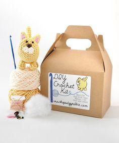 Golden Cat DIY Crochet Kit #zulily #zulilyfinds