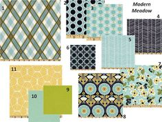 Modern Meadown Fabric - Etsy