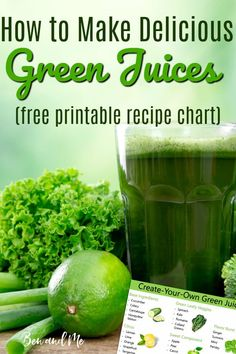 Create your own delicious green juice recipes with this simple formula. Includes printable template to hang on your fridge and a yummy green juice recipe to get you started. Superfood Recipes, Smoothie Recipes, Healthy Recipes, Cleanse Recipes, Delicious Recipes, Easy Recipes, Smoothies, Easy Green Juice Recipe, Green Juice Recipes