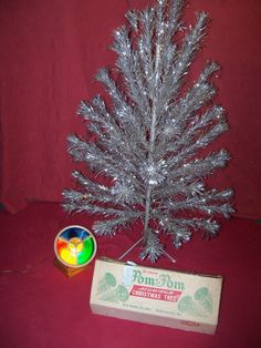 the sparkler pom pom aluminum christmas tree star band co vintage - Vintage Aluminum Christmas Tree