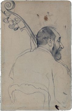 Edgar Degas:  Study of Contrebassist