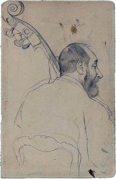 Edgar Degas: Study of Contrebassist