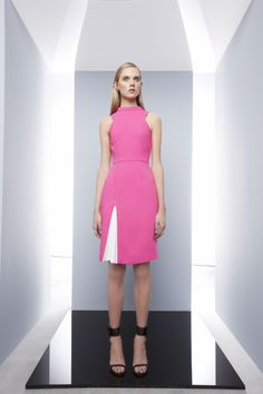 Successive Dress by CAMILLA AND MARC http://www.camillaandmarc.com/successive-dress-pink-w-white.html