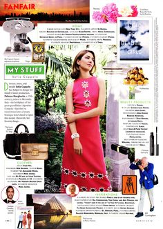 """she is everything. i've always loved the """"My Stuff"""" section of #VanityFair"""