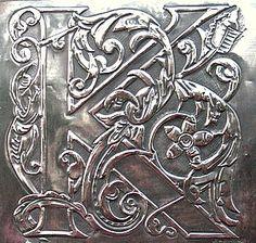 Pewter plaque letter K by Archives Crafts, via Flickr