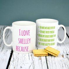 personalised love mug by mirrorin   notonthehighstreet.com