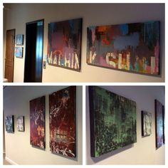 """Just finished hanging a few pieces for another group show I'm going to be apart of next week April the 18 7-10pm @portworkspaces 101 Broadway in Oakland. The group show is called """"INDUSTRIAl"""" going to be an awesome show."""