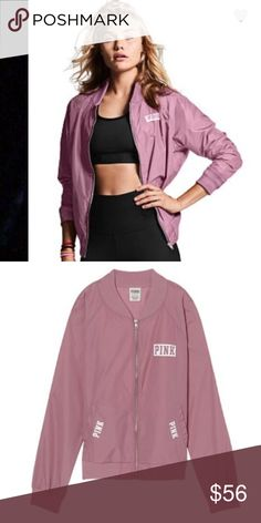 PINK Bomber Jacket Autumn Rose -  Size Large PINK Bomber Jacket Autumn Rose -  Size Large. Get street sport style in Fall's must-have jacket: the bomber. Features printed graphics at front chest and back. Only by Victoria's Secret PINK  Pockets Printed Graphic Imported nylon PINK Victoria's Secret Jackets & Coats