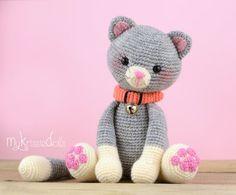 Mauw patrón Kitty de ganchillo por MyKrissieDolls en Etsy